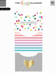 Mambi Happy Planner Adhesive Pocket -taskut, Multi Dot