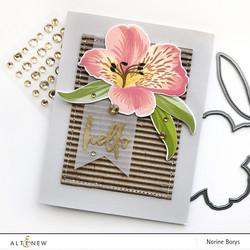Altenew Build-A-Flower Peruvian Lily stanssi- ja leimasinsetti