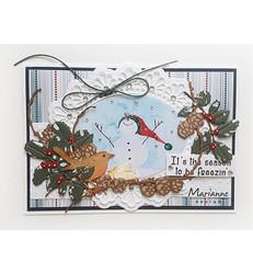 Marianne Design korttikuvat Snowmen