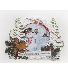 Marianne Design korttikuvat Snowmen 2