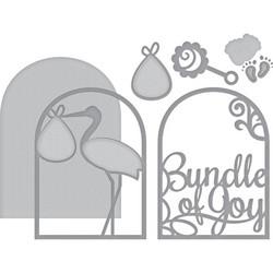 Spellbinders Layered Bundle Of Joy -stanssisetti