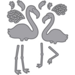 Elizabeth Craft Designs Flamingos -stanssisetti