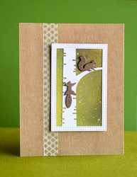 Poppystamps Busy Squirrel Trio -stanssisetti