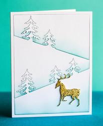 Poppystamps Dashing Reindeer -stanssi