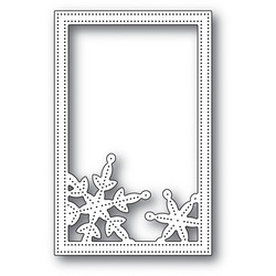 Poppystamps Simple Pinpoint Snowflake Frame stanssi