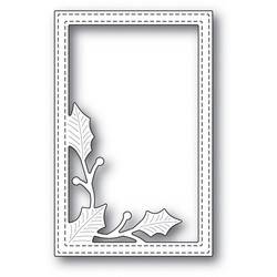 Poppystamps Simple Holly Vine Frame stanssi