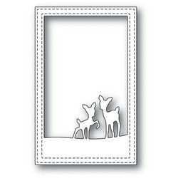 Poppystamps Playful Deer Stitched Frame stanssi