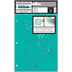 Vicki Boutin Mixed Media sapluunasetti Field Notes, Flutter, 3 kpl