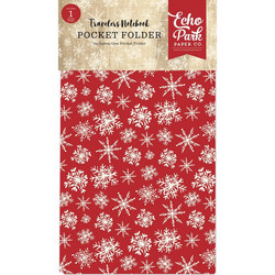 Echo Park Traveler's Notebook Pocket Folder Christmas 4.75