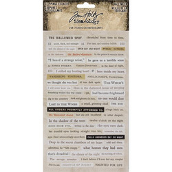 Tim Holtz Idea-ology Clipping -tarrat Halloween 2018