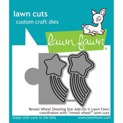 Lawn Fawn stanssisetti Reveal Wheel Shooting Star Add-On
