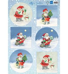 Marianne Design Santa's -korttikuvat, joulupukit