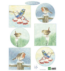 Marianne Design Tiny's Bird In Winter -korttikuvat
