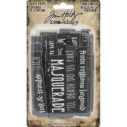 Idea-Ology Chipboard Quote Chips Halloween, 55 kpl