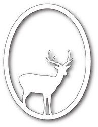 Memory Box Single Deer Oval -stanssi