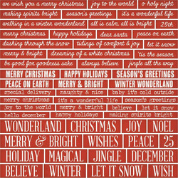 Idea-Ology Chipboard Quote Chips Christmas, 57 kpl