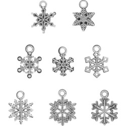 Tim Holtz Idea-Ology Adornments Snowflakes, metallikoristeet
