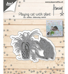 Joy! Crafts stanssi Playing Cat With Plant