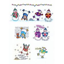 Hunkydory leimasinsetti Silly Snowmen