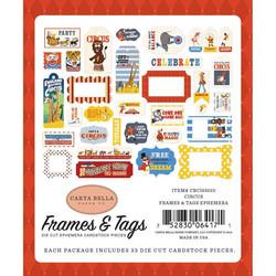 Carta Bella Circus Ephemera Frames & Tags -leikekuvat, 33 kpl