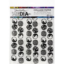 Dina Wakley Media Collage Tissue -paperipakkaus Backgrounds