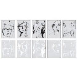 Dina Wakley Media Collage Tissue -paperipakkaus Faces