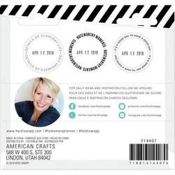 Heidi Swapp Memory Planner Magnetic leimasinsetti Color Fresh, Date