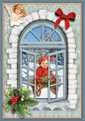 Reddy korttiaskartelupakkaus Christmas Window Cards