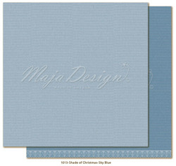 Maja Design Monochromes - Shades of Christmas skräppipaperi Skyblue