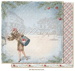 Maja Design Christmas Season skräppipaperi Mail the postcards
