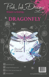 Pink Ink Designs leimasinsetti Dragonfly