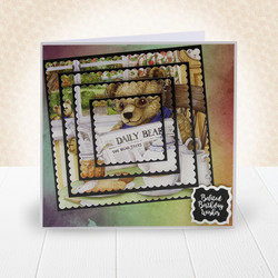 Hunkydory The Little Square Book of Teddy Bears -korttikuvat