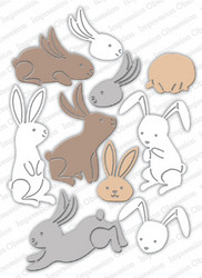 Impression Obsession Bunny Poses -stanssisetti