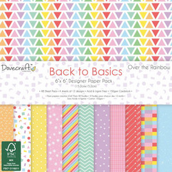 Dovecraft Back to Basics Over The Rainbow paperipakkaus
