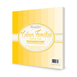 Hunkydory Colour Families paperipakkaus Yellow