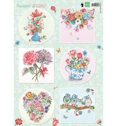 Marianne Design korttikuvat Romantic Dreams, green