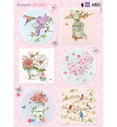 Marianne Design korttikuvat Romantic Dreams, pink