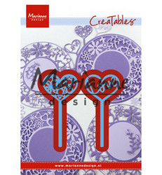 Marianne Design Heart Pins -stanssisetti