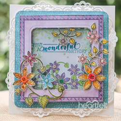 Heartfelt Creations Patchwork Daisy -leimasinsetti