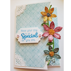 Heartfelt Creations Patchwork Daisy Border -stanssisetti