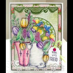 Heartfelt Creations Tulip Bouquet -leimasin