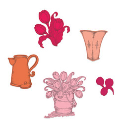 Heartfelt Creations Tulip Bouquet -stanssisetti