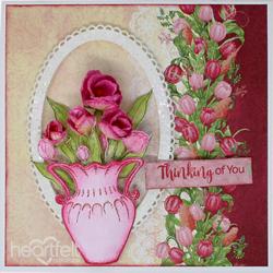 Heartfelt Creations Tulip Vase & Fillers -stanssisetti