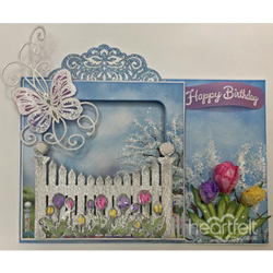 Heartfelt Creations Tulip Cart & Fence -stanssisetti