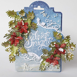 Heartfelt Creations Poinsettia & Holly Clusters -stanssisetti