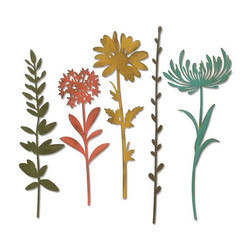 Sizzix Thinlits stanssisetti Wildflower Stems #1 by Tim Holtz