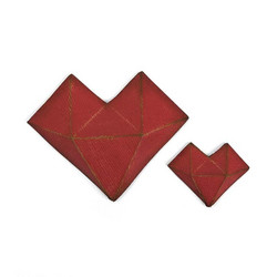 Sizzix Thinlits stanssisetti Faceted Heart by Tim Holtz