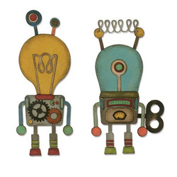 Sizzix Thinlits stanssisetti Robotic by Tim Holtz