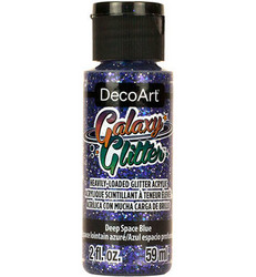 DecoArt Galaxy Glitter -maali, sävy Deep Space Blue