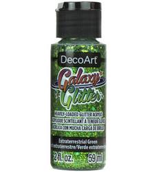 DecoArt Galaxy Glitter -maali, sävy Extraterrestial Green